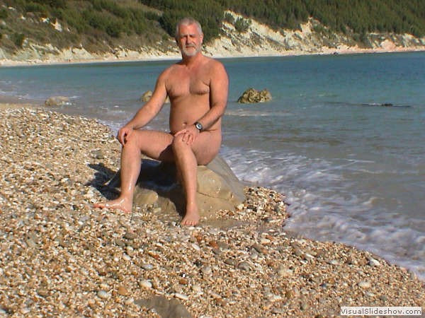 Gerry on Sirolo Beach Italy<br/><br/>Just to show it is a nude beach