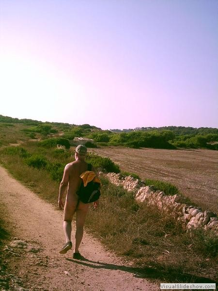The long walk home<br/><br/>All good things come to an end even the days in Menorca, but Gerry's pushing it to the limit!!