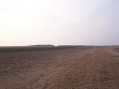 Holkham Gap Beach, UK<br/><br/>It's a long walk and don't forget a wind break! North Norfolk is often windy.