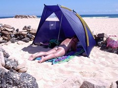 Corralejo plentyof space<br/><br/>&quot;This beach is just perfect for 1st timers like ourselves as it is not crowded and the little semi-igloos afford a little privacy.&quot; say N&K